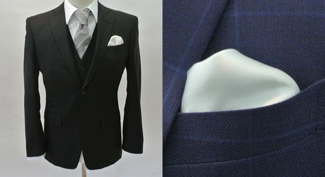 結婚式やパーティーに|パフ(パフド). ポケットチーフ