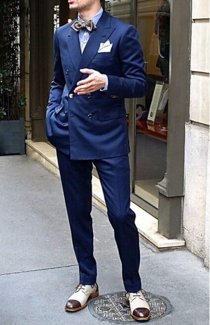 蝶ネクタイで華やかに. ダブルスーツ 着こなし